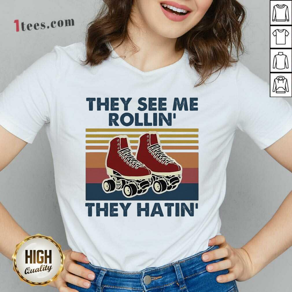 They See Me Rollin' They HatinV-neck- Design By 1Tees.com