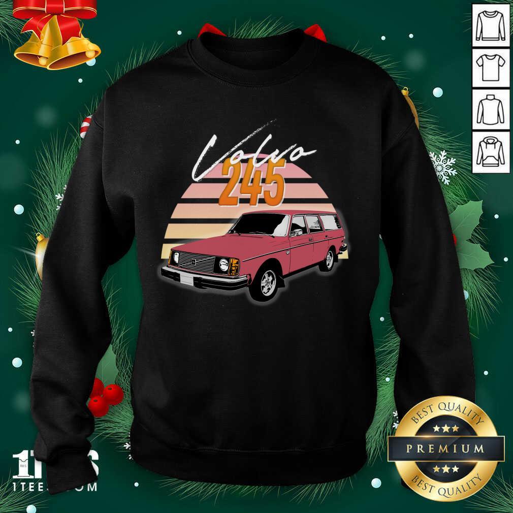 Volvo 240 245 Retro Wagon Design Sweatshirt- Design By 1Tees.com