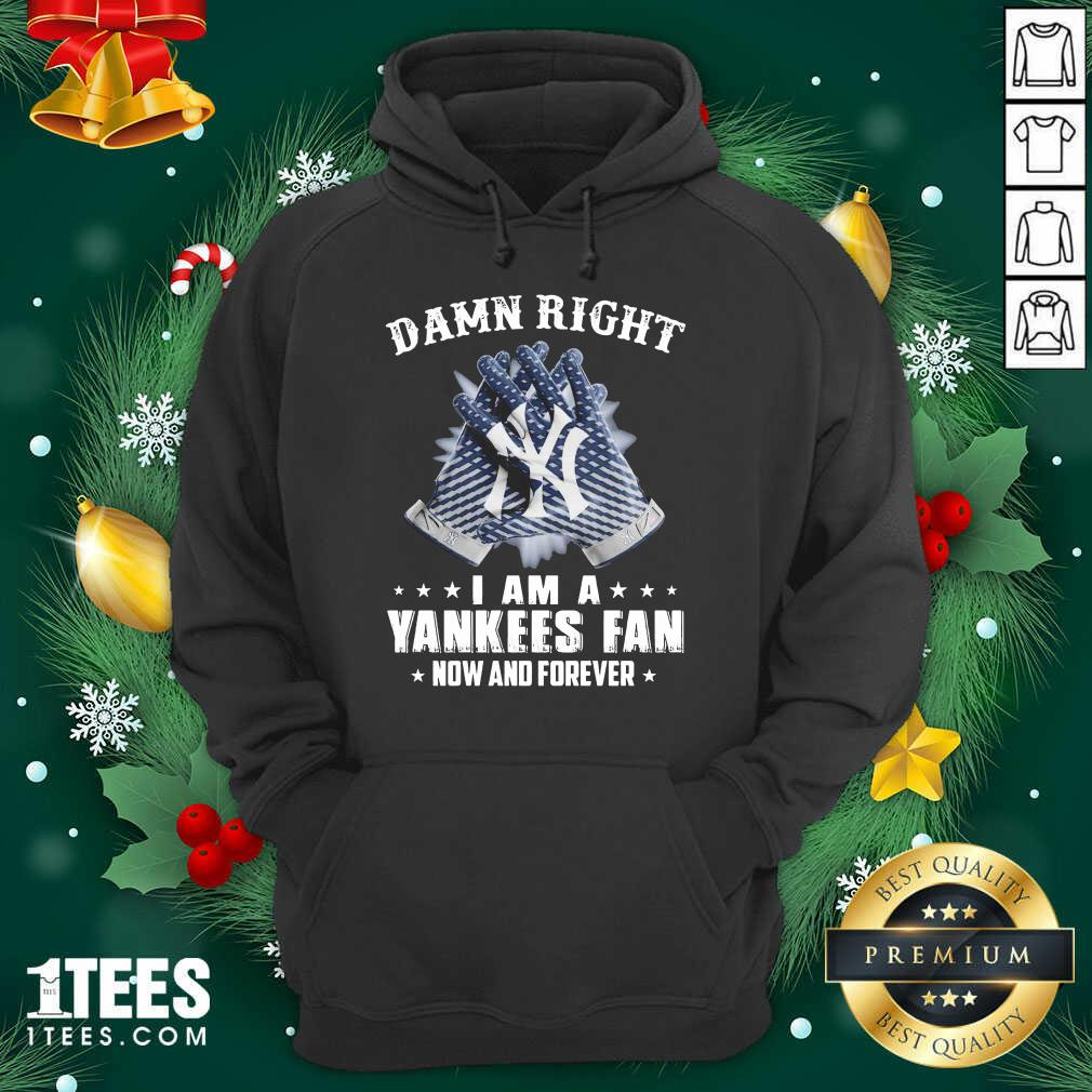 Damn Right I Am A New York Yankees Fan Now And Forever Hoodie- Design By 1Tees.com