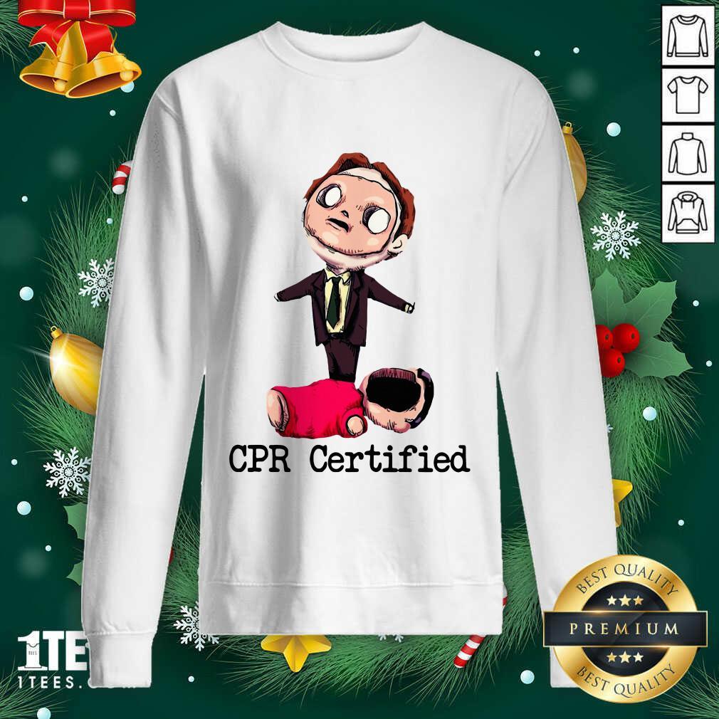 Dwight Schrute Cpr Certified Sweatshirt- Design By 1Tees.com
