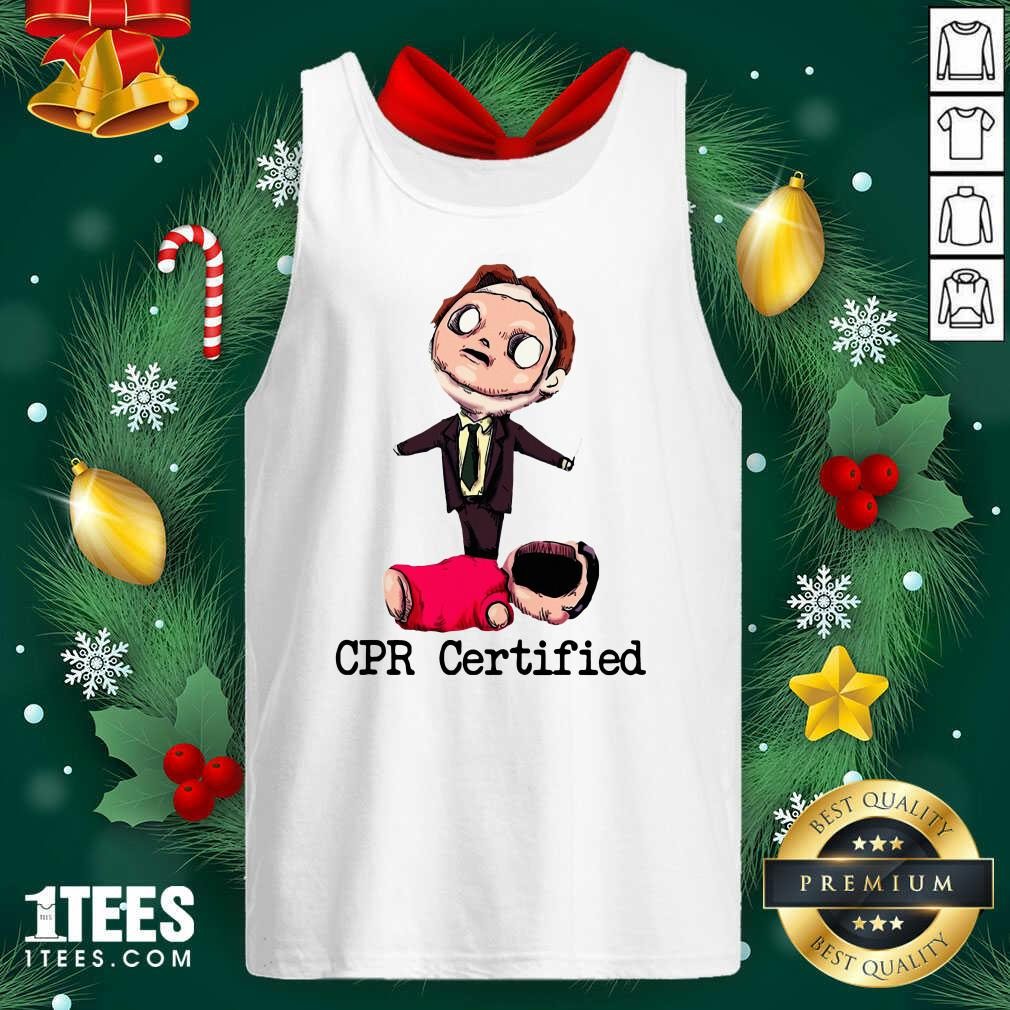 Dwight Schrute Cpr Certified Tank Top- Design By 1Tees.com