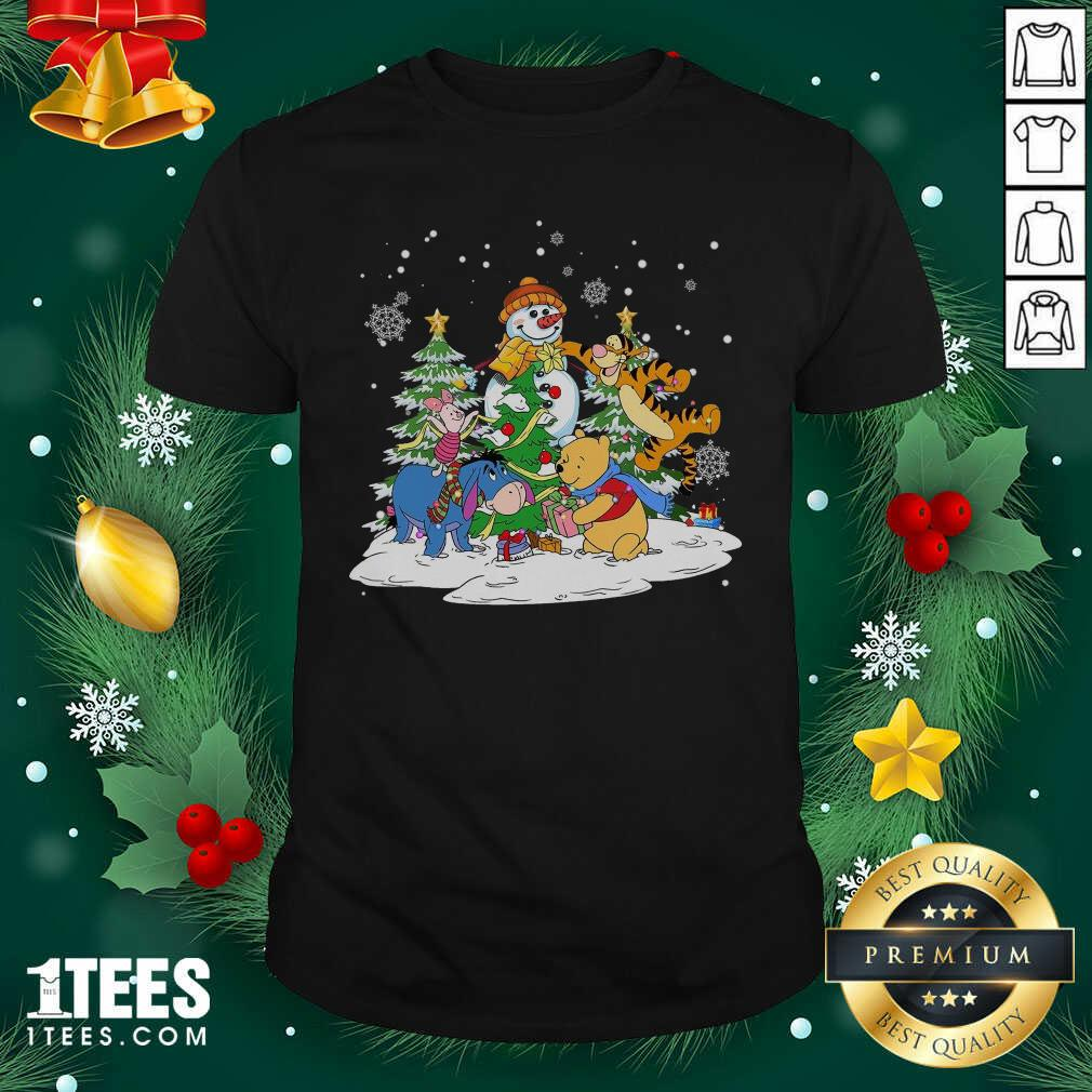 Snowman Bear And Friends Christmas Shirt- Design By 1Tees.com