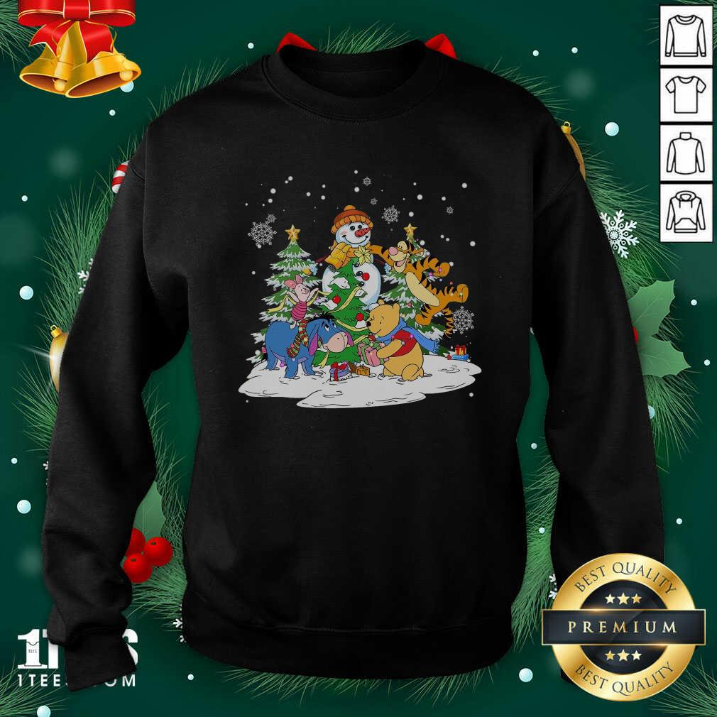 Snowman Bear And Friends Christmas Sweatshirt- Design By 1Tees.com