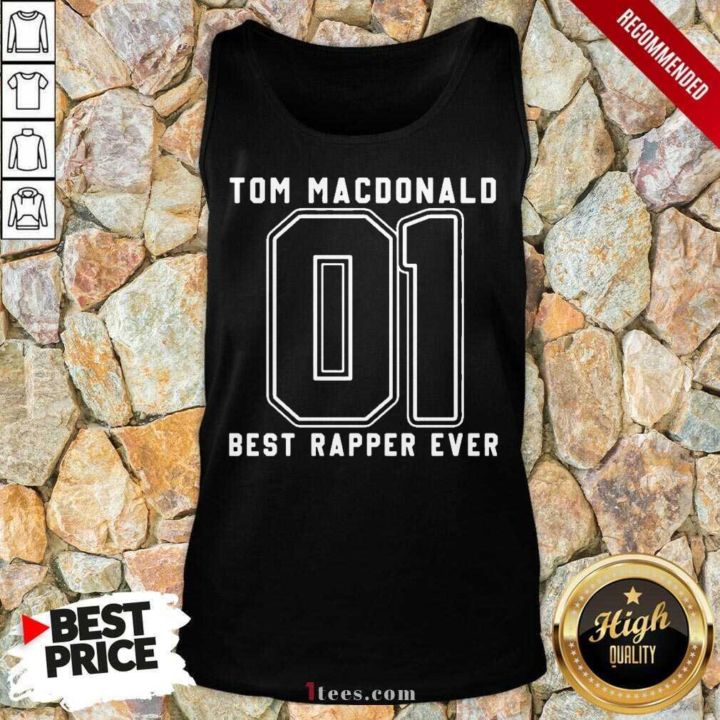 Tom MacDonald Best Rapper Ever Tank Top- Design By 1Tees.com