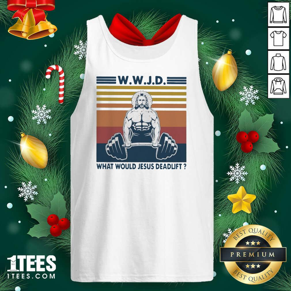 Wwjd What Would Jesus Deadlift Vintage Tank Top- Design By 1Tees.com