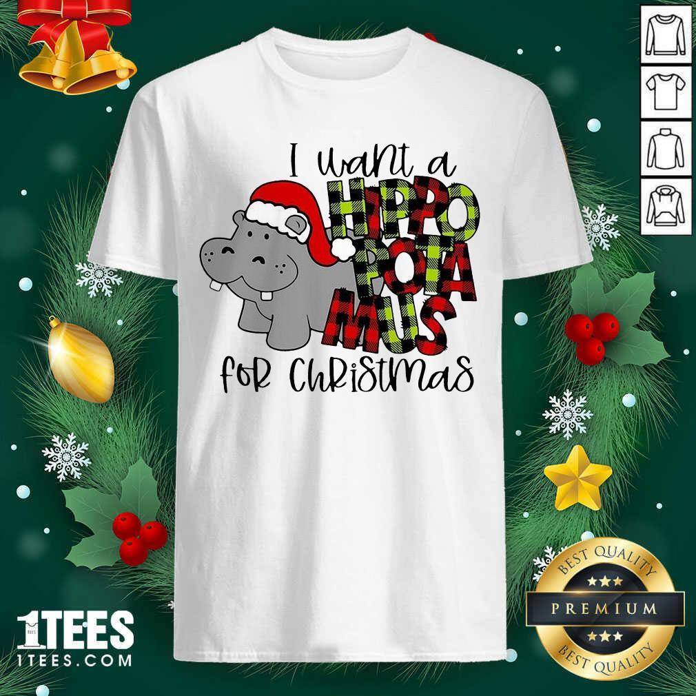 I Want A Hippopotamus For Christmas Shirt- Design By 1Tees.com