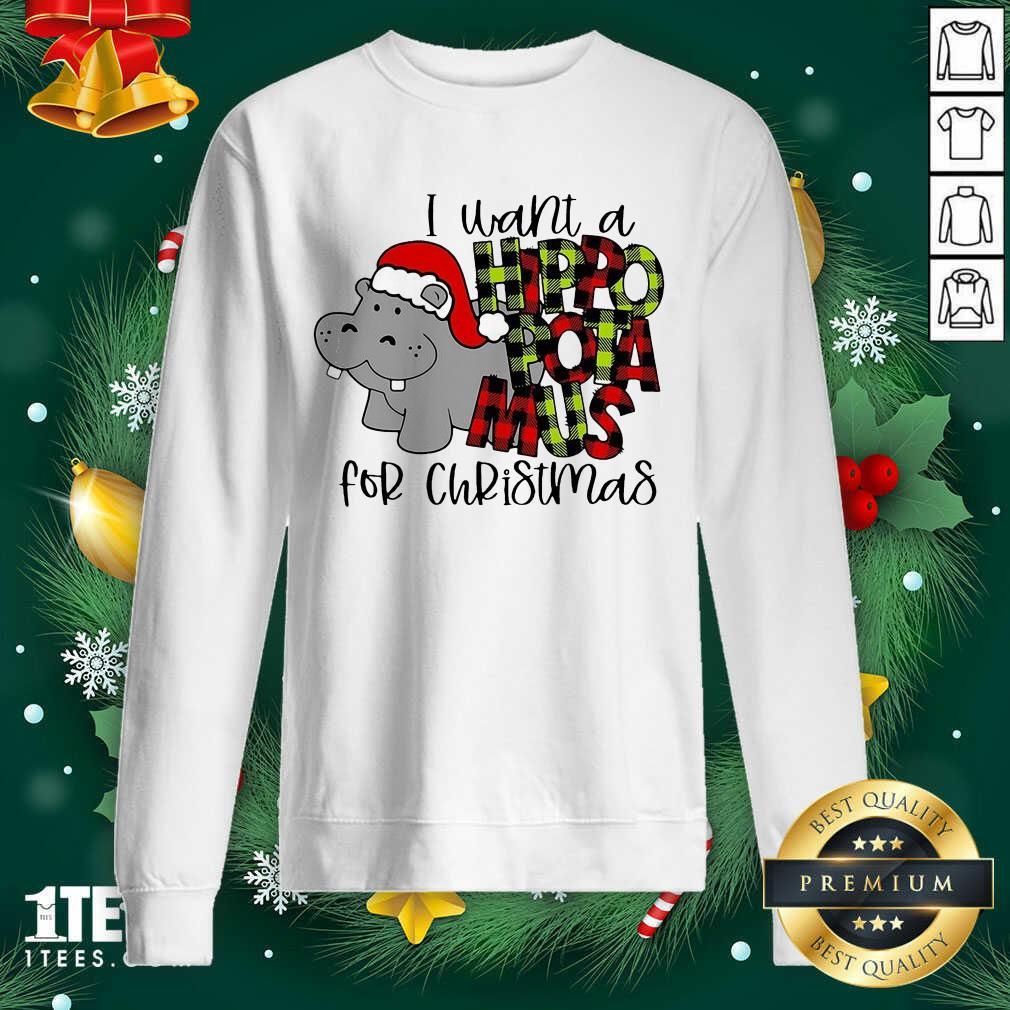 I Want A Hippopotamus For Christmas Sweatshirt- Design By 1tees.com
