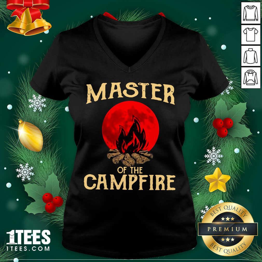 Master Of The Campfire V-neck- Design By 1tees.com