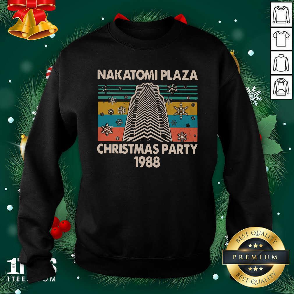 Nakatomi Plaza Christmas Party 1988 Vintage Sweatshirt- Design By 1tees.com
