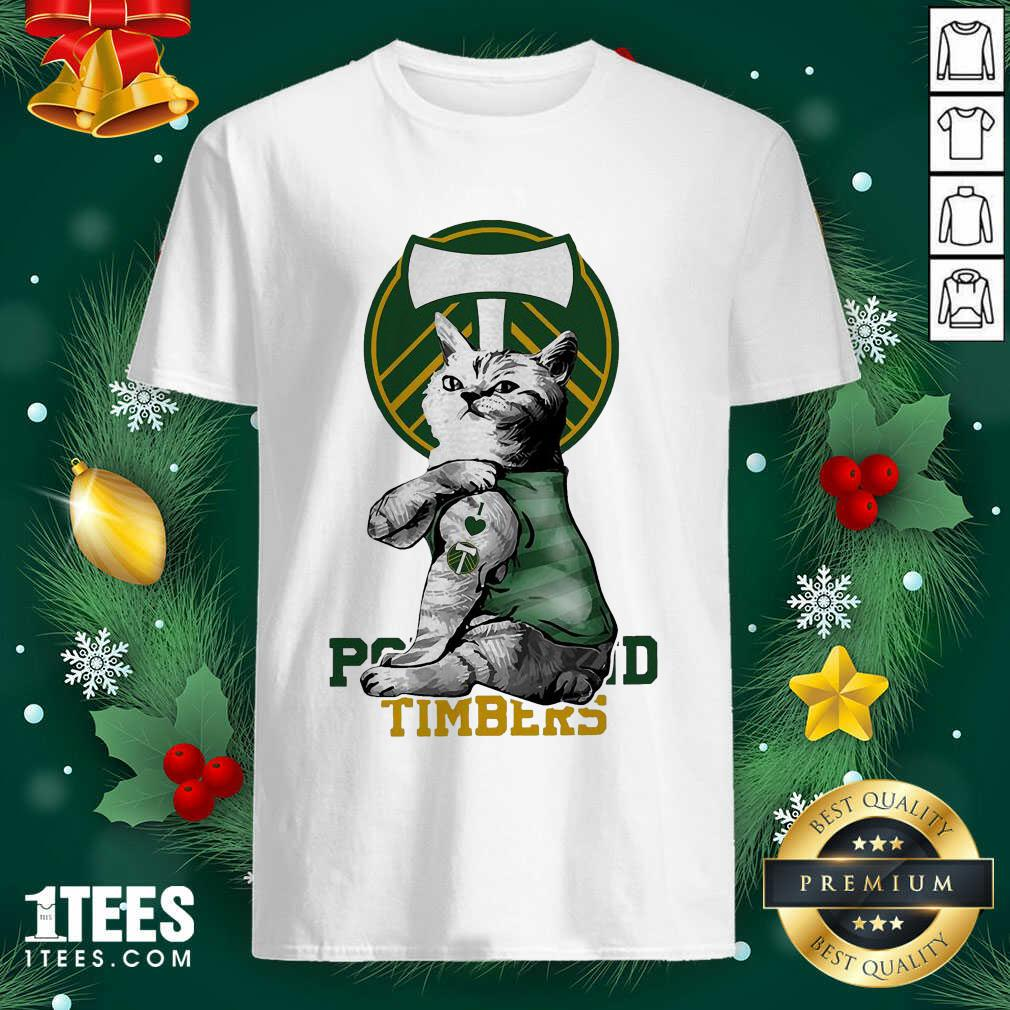 Tattoo Cat I love Portland Timbers Shirt- Design By 1tees.com