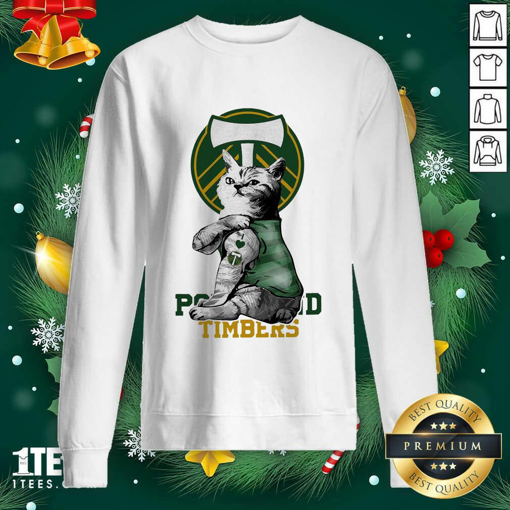 Tattoo Cat I love Portland Timbers Sweatshirt- Design By 1tees.com