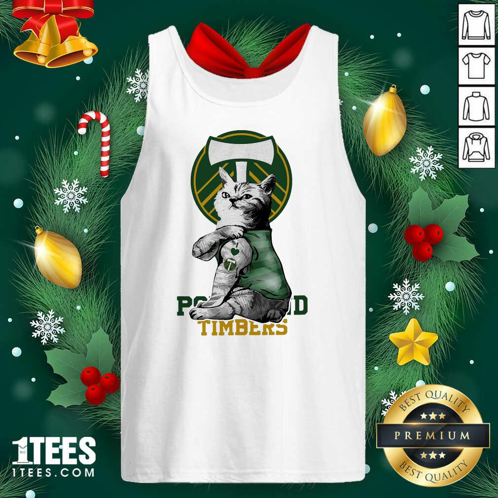 Tattoo Cat I love Portland Timbers Tank Top- Design By 1tees.com