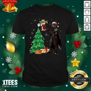 Darth Vader And Baby Yoda Santa Tree Christmas Shirt- Design By 1Tees.com