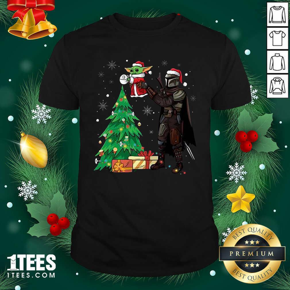 Darth Vader And Baby Yoda Santa Tree Christmas Shirt- Design By 1Tees.com