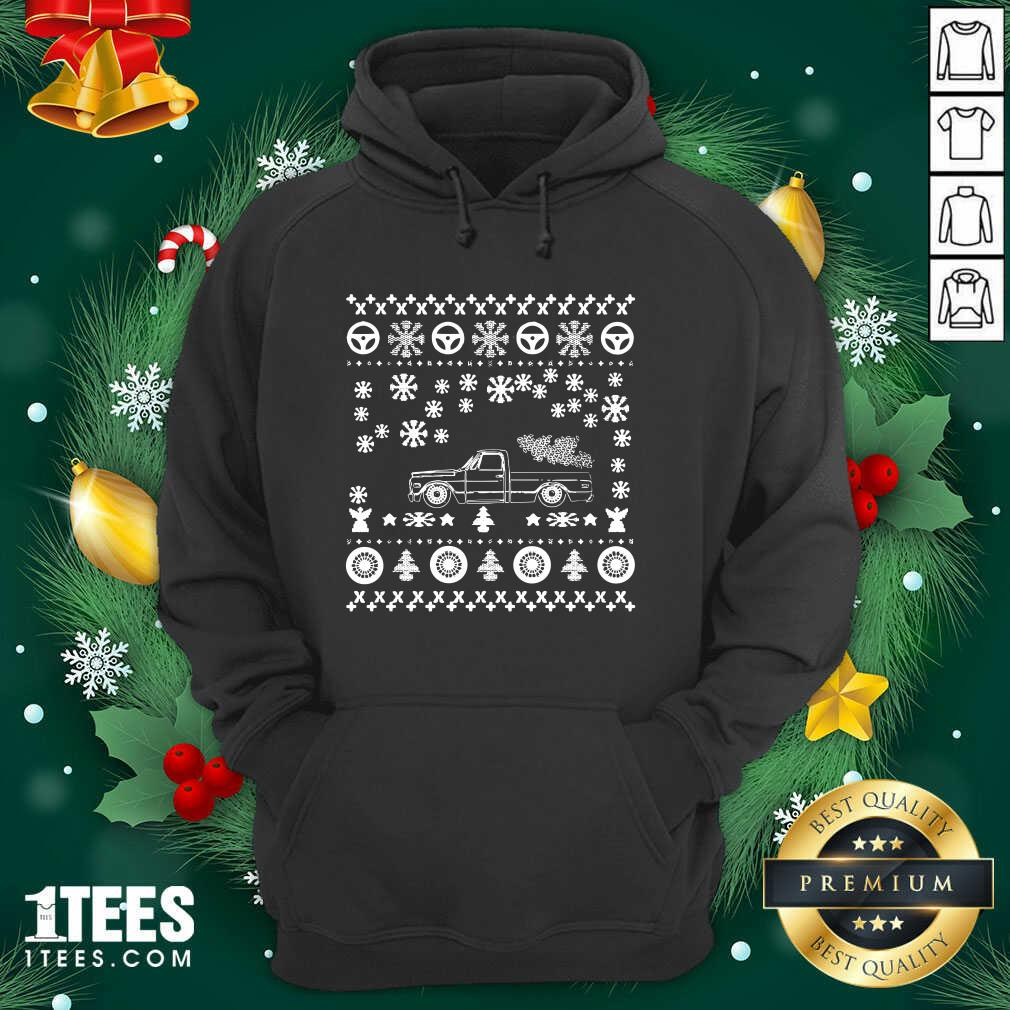 Tow Truck Ugly Merry Christmas Hoodie- Design By 1Tees.com