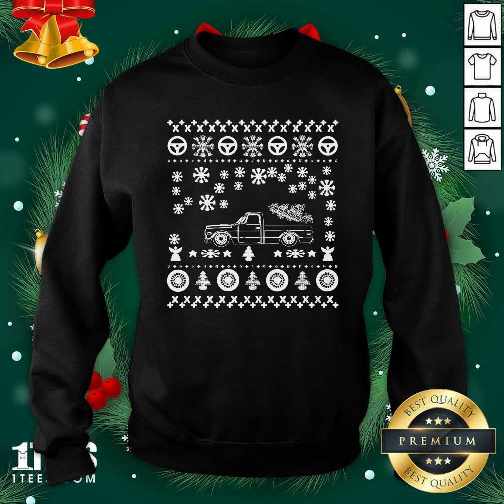 Tow Truck Ugly Merry Christmas Sweatshirt- Design By 1Tees.com