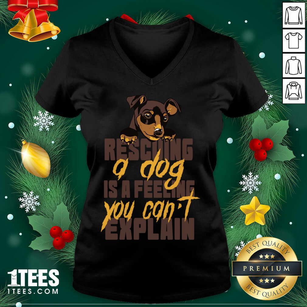 Animal Rescue Dog Rescue V-neck- Design By 1Tees.com
