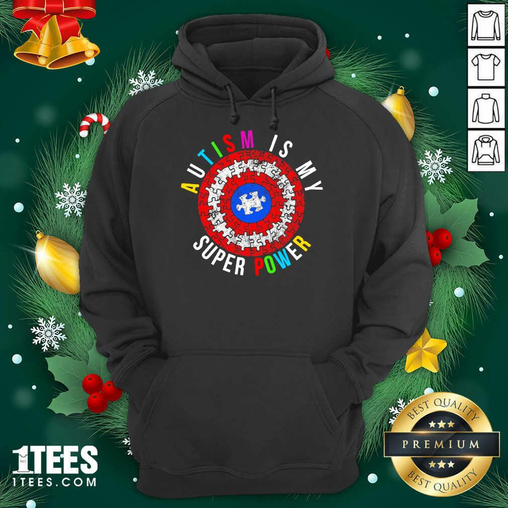 Autism Is My Superpower Superhero Hoodie- Design By 1Tees.com