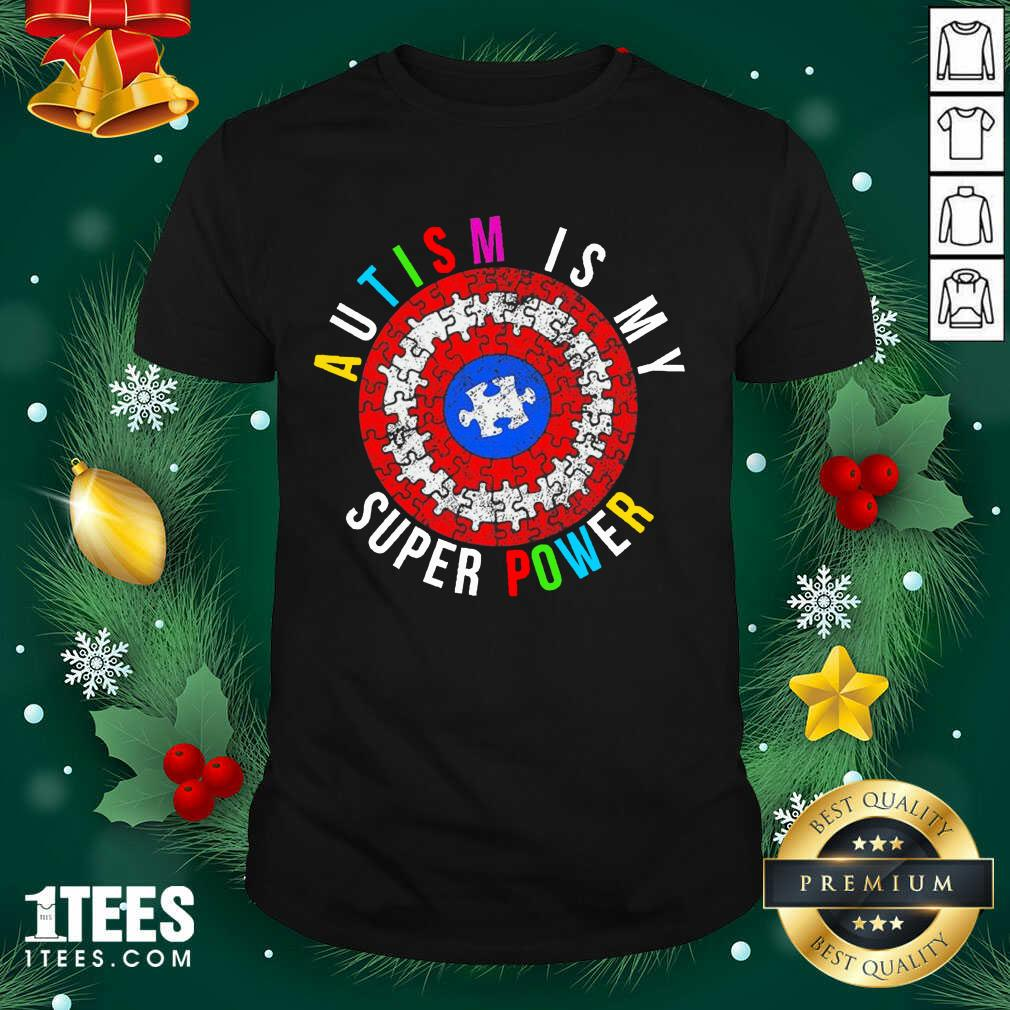 Autism Is My Superpower Superhero Shirt- Design By 1Tees.com