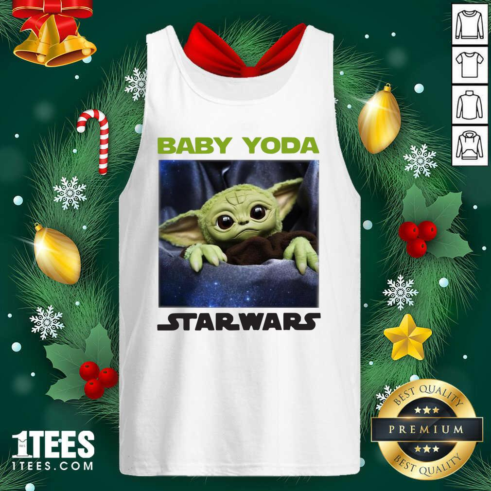 Baby Yoda Star Wars Tank Top- Design By 1Tees.com
