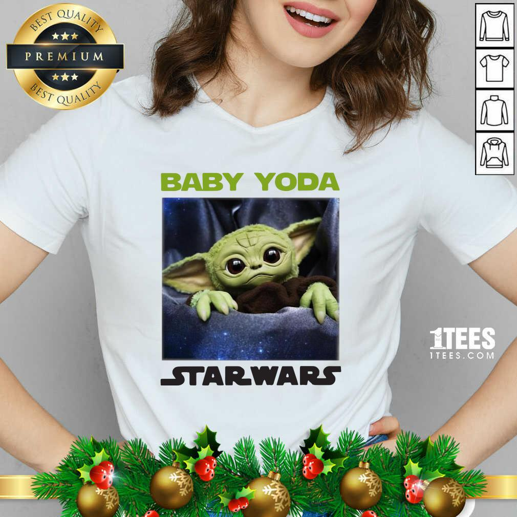 Baby Yoda Star Wars V-neck- Design By 1Tees.com