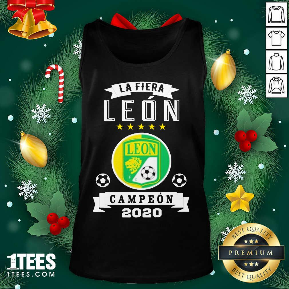 Club Leon Campeon 2020 Futbol Mexicano La Fiera Tank Top- Design By 1Tees.com