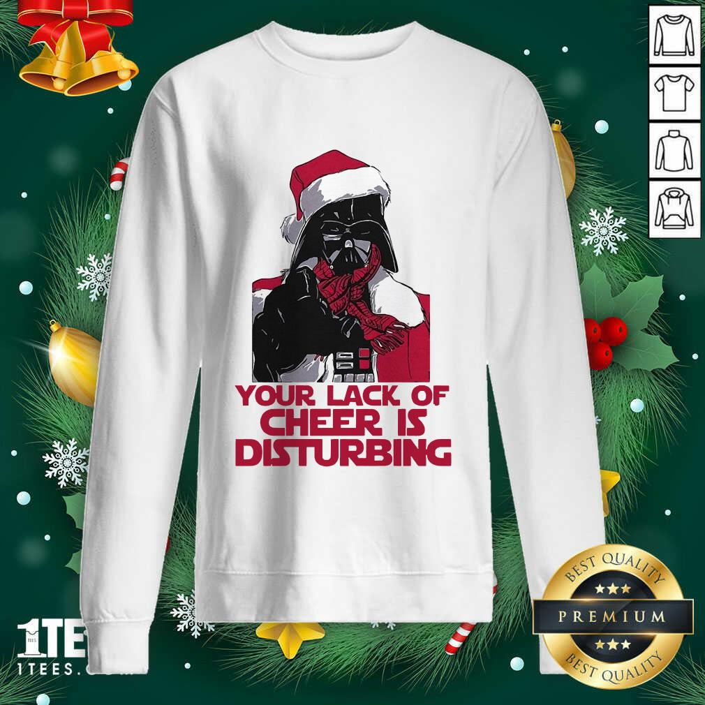 Darth Vader Your Lack Of Cheer Is Disturbing Christmas Sweatshirt- Design By 1Tees.com
