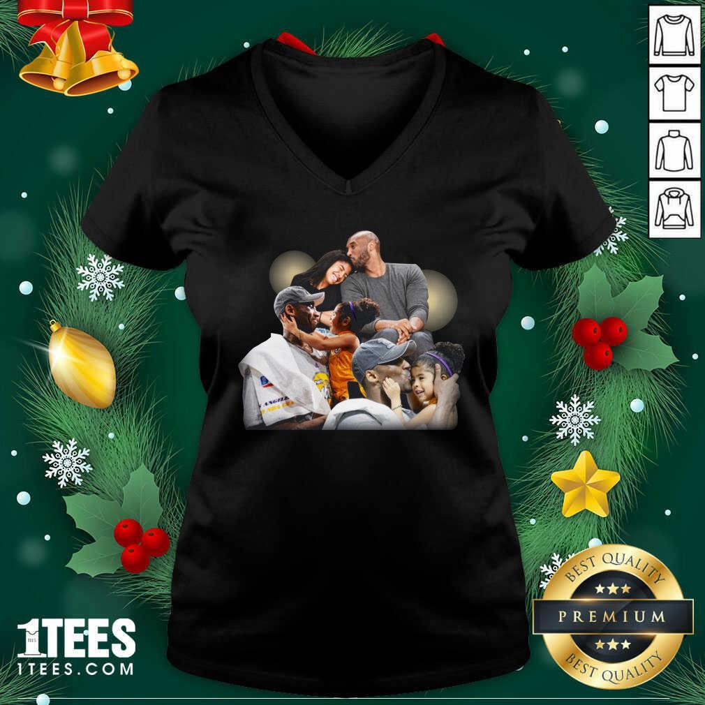 Lebron James Kobe Daughter V-neck- Design By 1tees.com