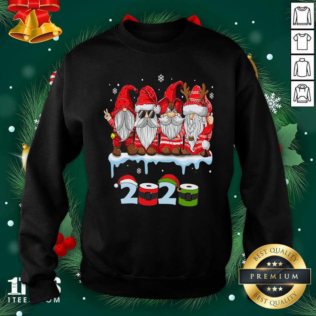Merry Christmas Gnomes Wear Mask 2020 Quarantine Xmas Sweatshirt- Design By 1Tees.com