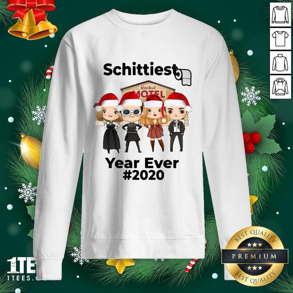Schitts Creek Characters Chibi Schittiest Year Ever 2020 Christmas Sweatshirt- Design By 1tees.com