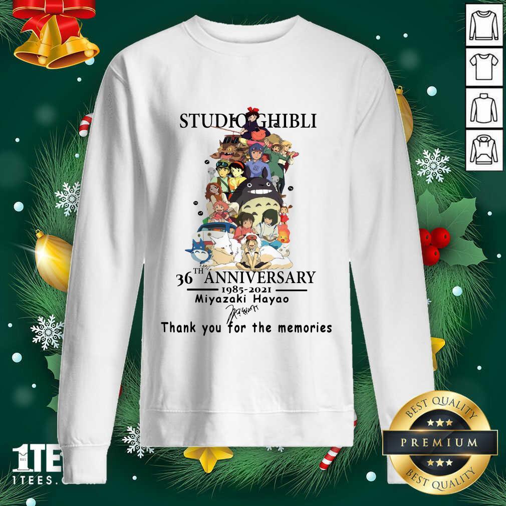 Studio Ghibli 36th Anniversary Thank You For The Memories Signatures Sweashirt- Design By 1tees.com