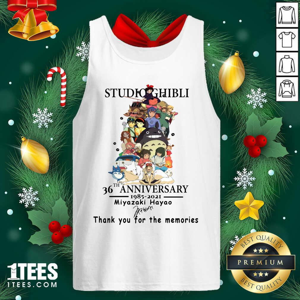 Studio Ghibli 36th Anniversary Thank You For The Memories Signatures Tank Top- Design By 1tees.com
