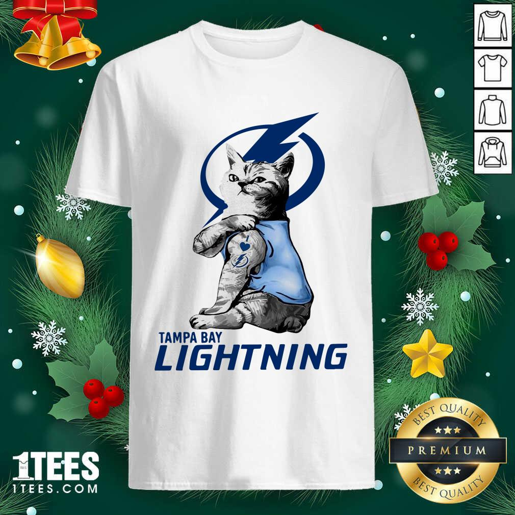 Tattoo Cat I love Tam Bay Lightning shirt- Design By 1Tees.com