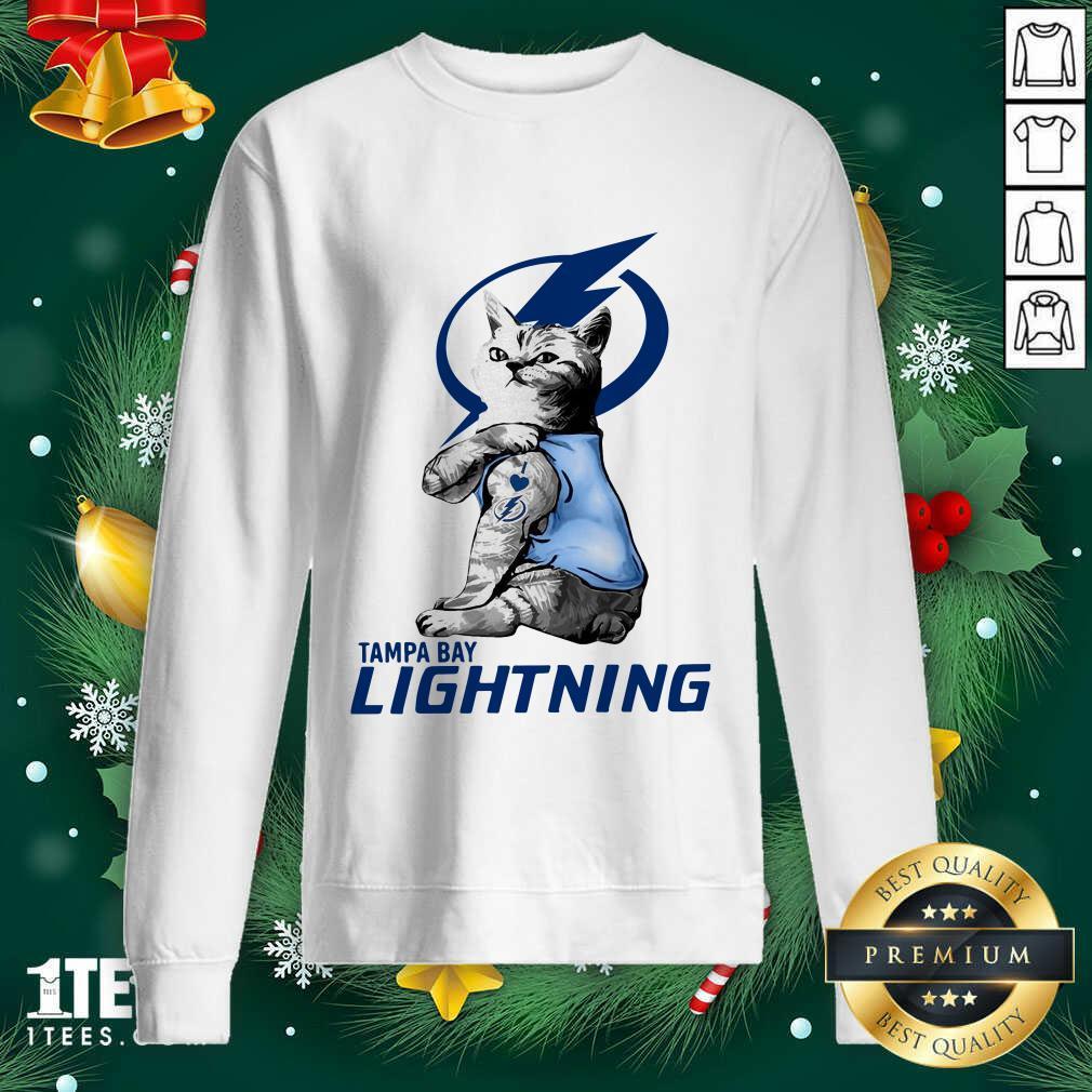 Tattoo Cat I love Tam Bay Lightning Sweatshirt- Design By 1tees.com