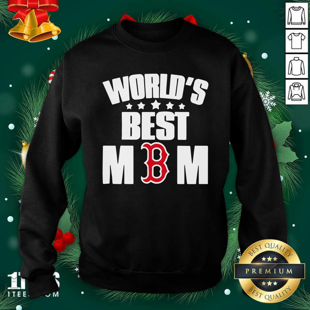 World's Best Boston Red Sox Mom Sweatshirt- Design By 1Tees.com