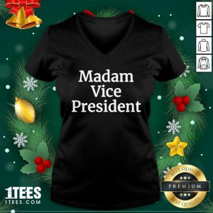 Madam Vice President 2020 V-neck- Design By 1Tees.com