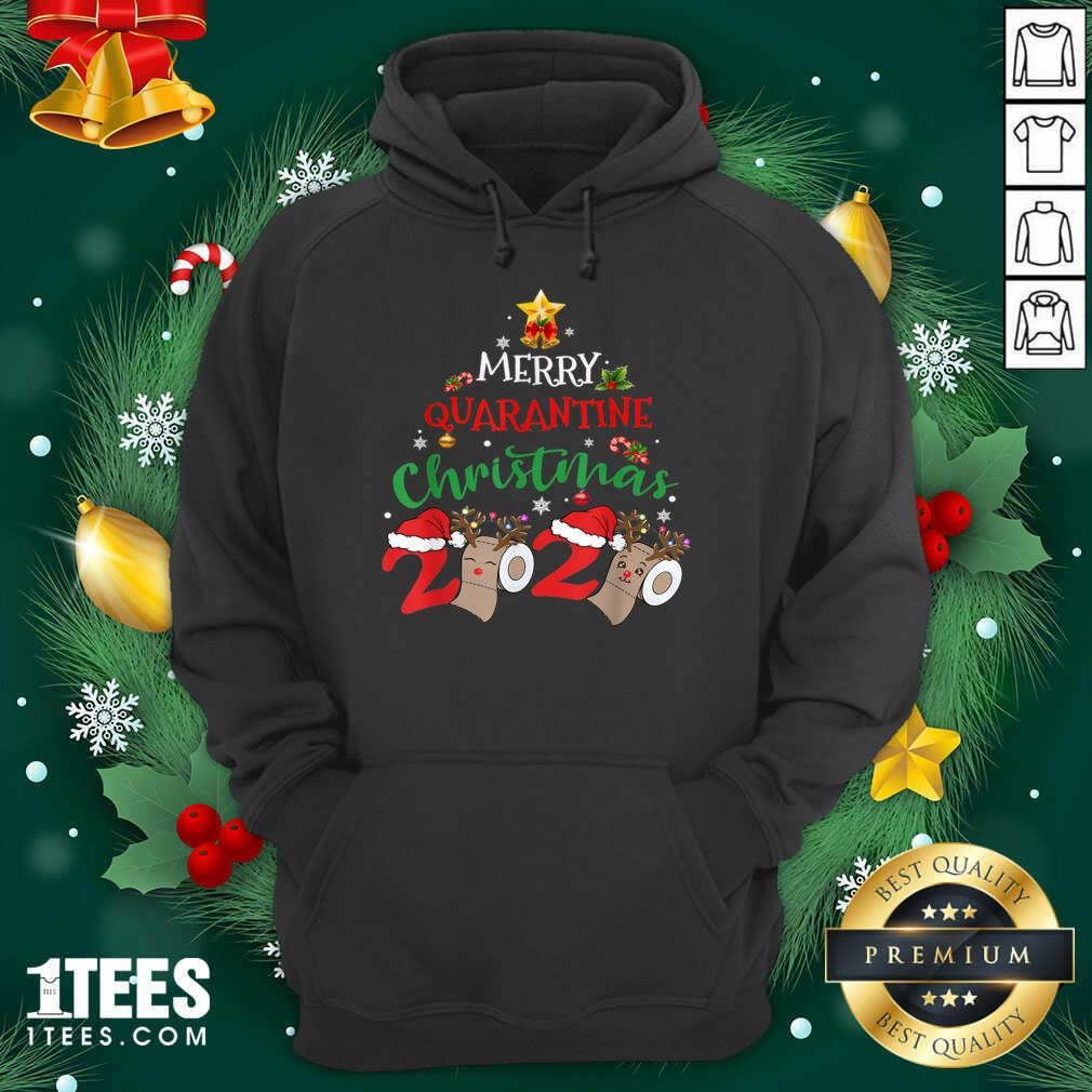 Merry Quarantine Christmas 2020 Pajamas Matching Family Gift Hoodie- Design By 1Tees.com