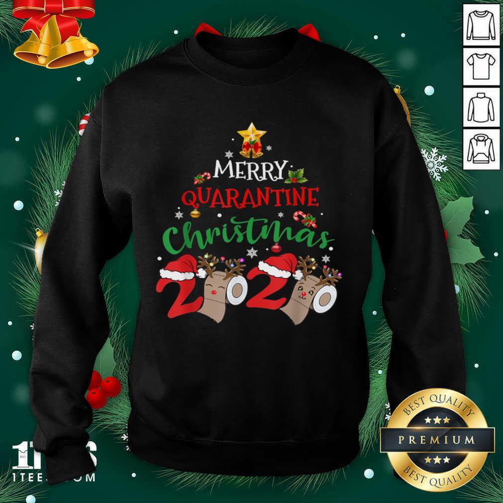 Merry Quarantine Christmas 2020 Pajamas Matching Family Gift Sweatshirt- Design By 1Tees.com