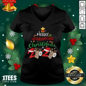 Merry Quarantine Christmas 2020 Pajamas Matching Family Gift Tank Top- Design By 1tees.com