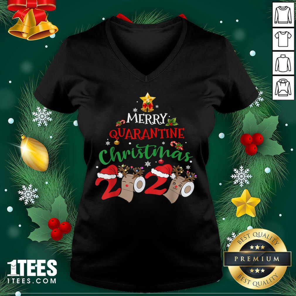 Merry Quarantine Christmas 2020 Pajamas Matching Family Gift Tank Top- Design By 1tees.com