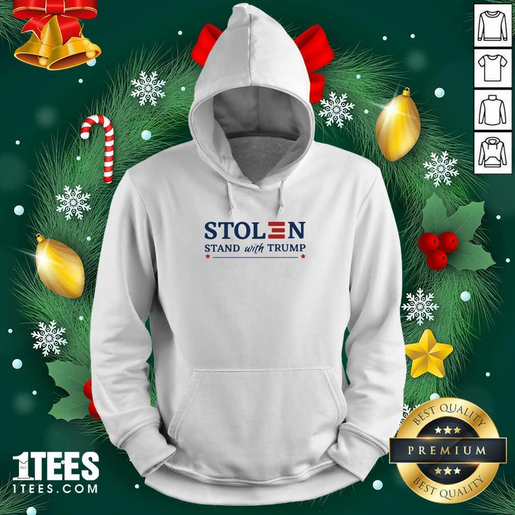 Stolen Stand With Trump Hoodie- Design By 1Tees.com