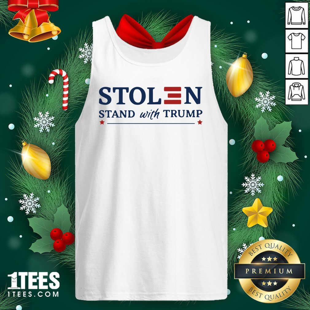 Stolen Stand With Trump Tank Top- Design By 1Tees.com