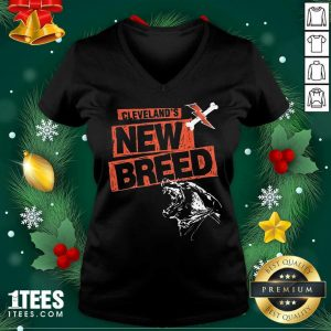 Cleveland Football New Breed V-neck- Design By 1Tees.com