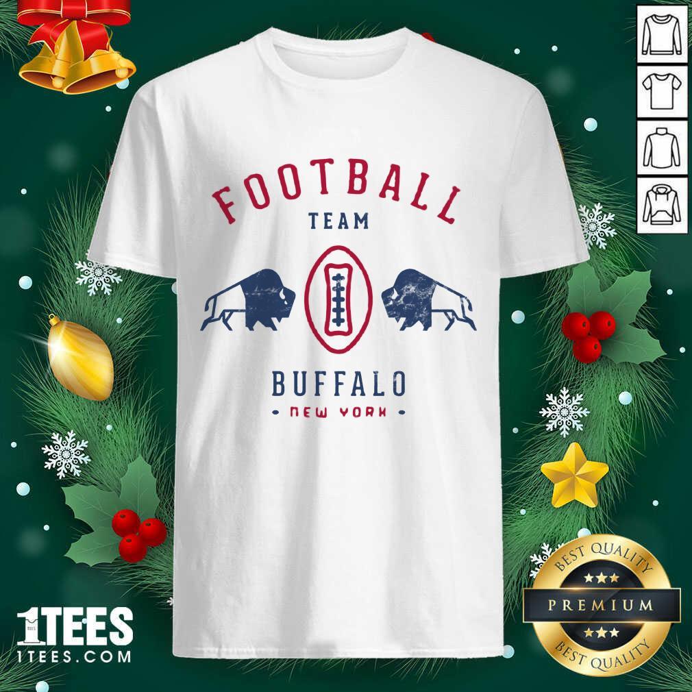 Cool modern Buffalo Bills Retro Team Crest Shirt- Design By 1Tees.com