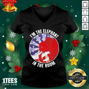 I'm The Elephant In The Room Republican Conservative V-neck- Design By 1tees.com