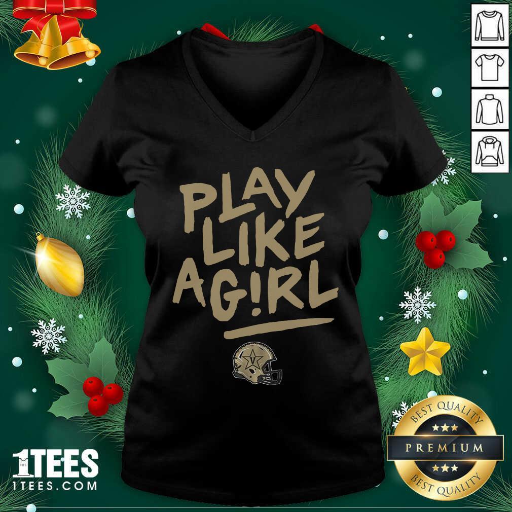 Play Like A Girl V-neck- Design By 1tees.com