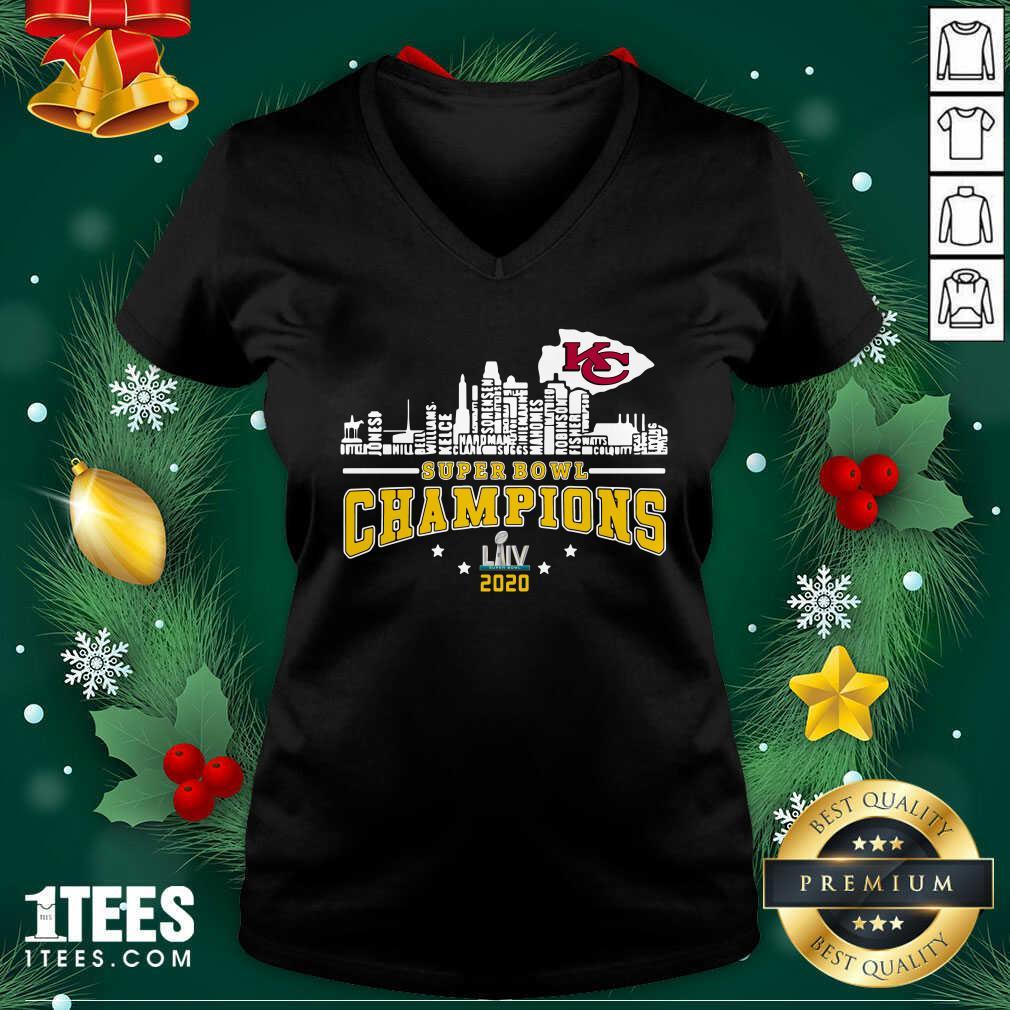 Super Bowl Champions 2020 Name V-neck- Design By 1Tees.com