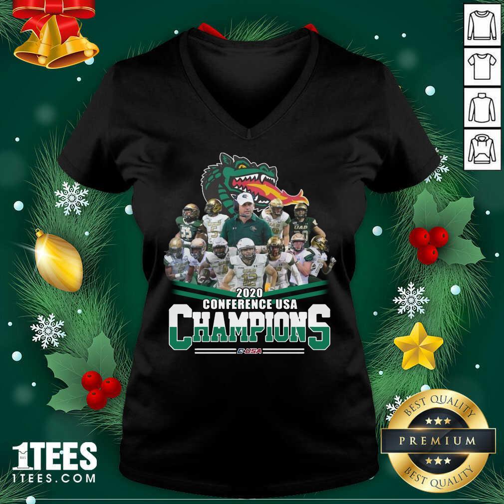 2020 Conference Usa Champions Usa V-neck- Design By 1Tees.com