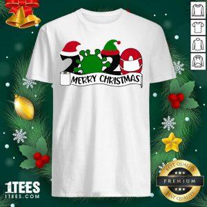 Merry Christmas 2020 Santa Elf Coronavirus Shirt- Design By 1Tees.com