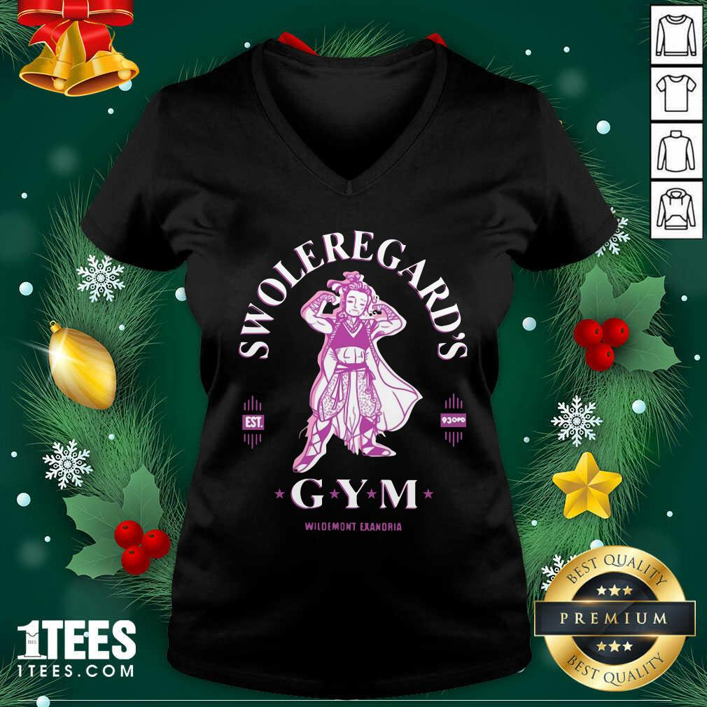 Swoleregards Gym Wildemont Exandria V-neck- Design By 1tees.com